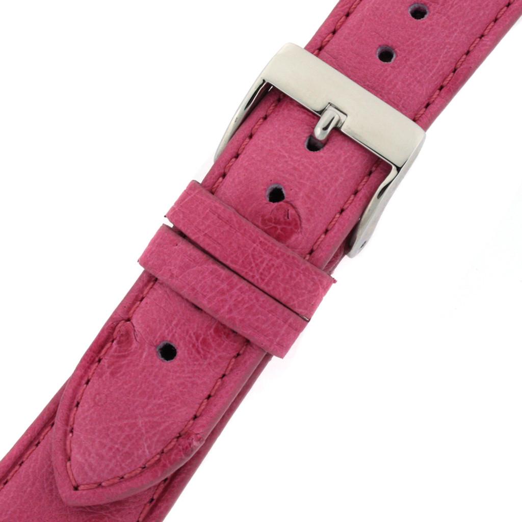 Ostrich Pink Watch Band - Buckle
