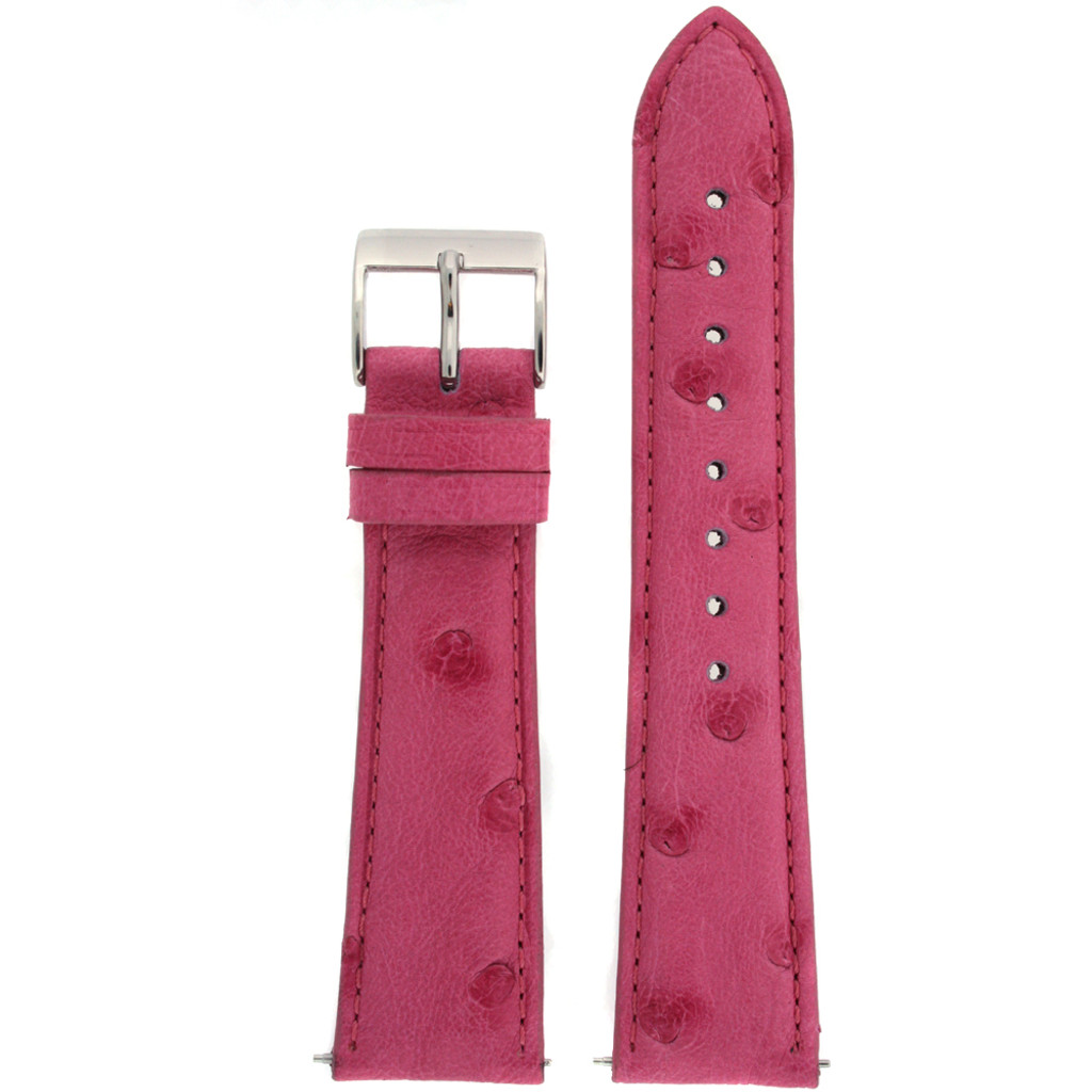 Ostrich Pink Watch Band - Top