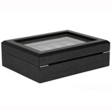 Factory Defect - Watch Box 10 Watches Grey Large Compartments Removable Tray