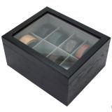 Wood Belt Box | Men's Organizer Case | Elegant Tie display | TechSwiss TSBX8300BLT | side