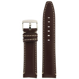 Brown Leather Watch Band | TechSwiss Leather Watch Bands  | LEA1445 | Front