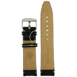 Black Leather Watch Band | TechSwiss Leather Watch Bands  | LEA1446 | Back