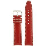 RED Leather Watch Band | TechSwiss Leather Watch Bands  | LEA1447 | Front