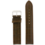 Brown Leather Crocodile Grain Watch Band | TechSwiss  Leather Watch Bands  | LEA255 | Front