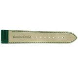 Green Lizard Skin Watch Band | Genuine Exotic Grain Straps | TechSwiss LEA738 | Back