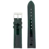 Green Patent Leather Watch Band | Glossy Watch Strap | Cream Watch Band | Italian Calfskin | LEA435 | Main
