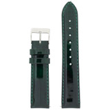 Green Patent Leather Watch Band | Glossy Watch Strap | Cream Watch Band | Italian Calfskin | LEA435 | Main
