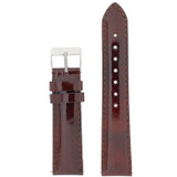 Burgundy Red Watch Band Patent Leather Watch Band | Glossy Watch Strap | Burgundy Watch Band | Italian Calfskin | LEA437 | Main