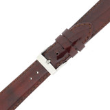 Burgundy Red Watch Band Patent Leather Watch Band | Glossy Watch Strap | Burgundy Watch Band | Italian Calfskin | LEA437 | Buckled
