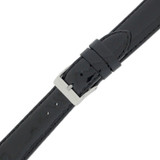 Black Watch Band Patent Leather Watch Band | Glossy Watch Strap | Black Watch Band | Italian Calfskin | LEA403 | Buckled