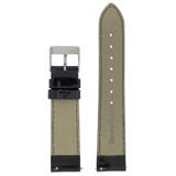 Black Watch Band Patent Leather Watch Band | Glossy Watch Strap | Black Watch Band | Italian Calfskin | LEA403 | Back