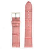 Pink Leather Watch Band in Alligator Grain - LEA20 - TechSwiss - Main View