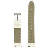 White Watch Band Patent Leather Watch Band | Glossy Watch Strap | Ladies White Watch Band | Italian Calfskin | LEA408 | Back
