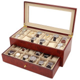 Burlwood Watch Box | Watch Cases by TechSwiss | TSBXA24BUR | Main