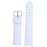 White Leather Watch Band in Alligator Grain - LEA230 - TechSwiss - Main View