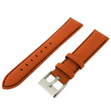 Watch Band Nylon Orange Padded Water Resistant Leather Lining LEA624 |TechSwiss | Front