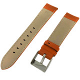 Watch Band Nylon Orange Padded Water Resistant Leather Lining LEA624 |TechSwiss | Back