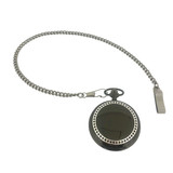 Pocket Watch Chain Stainless Steel Fob Curb Link Design Clip End Matte - 14""