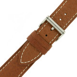 Watch Band Tan White Stitching Roller Clasp| LEA470 |TechSwiss | Buckled