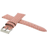 Pink Watch Band Snake Grain | Tech Swiss LEA1120 | Side