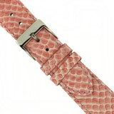 Pink Watch Band Snake Grain | Tech Swiss LEA1120 | Buckled