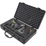 Case Aluminum Black Customize Pluck and Pull Foam Store Guns Pistols Camera Lens Tools Collectables