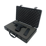 Case Aluminum Black Customize Pluck and Pull Foam Store Guns Pistols Camera Lens Tools Collectables