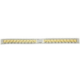 Watch Band Metal Link Two-Tone Stainless Steel 12mm