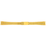 14mm Watch Band Ladies Link Metal Gold-Tone Jubliee Style