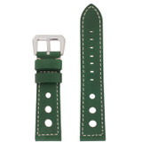 Watch Band Black Sport Leather Lining LEA489 |TechSwiss | Front