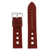 Watch Band Red Sport Leather Lining LEA347 |TechSwiss | Front