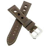 Watch Band Brown Sport Leather Lining LEA346 |TechSwiss | Front
