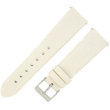 Watch Band Satin White LADIES LENGTH Built-In Spring Bars Short