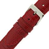 Red Lizard Skin Watch Band | Genuine Exotic Grain Straps | TechSwiss LEA727 | Buckle