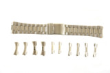 Watch Band Metal Mens Stainless Steel with Set of 5 End Pcs Fits 22mm - 26mm