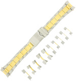 Mens Metal Watch Band Front View