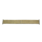 Watch Band Expansion Stretch Metal Two-Tone Mens 16mm-22mm