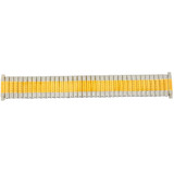 Watch Band Expansion Metal Stretch Two-Tone Mens 17mm-22mm