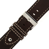 Pilot Watch Band in Brown Leather - LEA1320 - TechSwiss - Second View