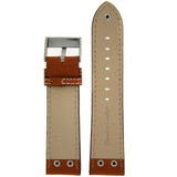 Pilot Replacement Watch Strap in Saddle Brown | LEA1310 | TechSwiss | Lining View
