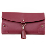 Travel Jewelry Case in Purple Leather | TechSwiss TS10774 Second