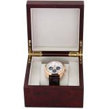 Extra Large Watch Box   Single Burlwood Watch Gift Case   TechSwiss TSBOXBUR1