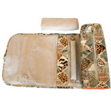 Leopard Print Jewelry Travel Roll | Side View