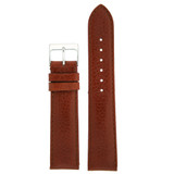 Calfskin Brown Watch Band Silver Buckle | LEA485 | TechSwiss | Main