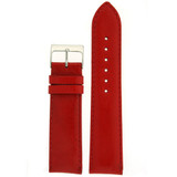 Red Padded Leather Calfskin Watch Band | Replacement Strap from TechSwiss | LEA484 | Main