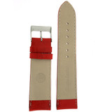Red Padded Leather Calfskin Watch Band   Replacement Strap from TechSwiss   LEA484   Lining