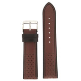 Brown Sport Style Leather Watch Band | TechSwiss Replacement Strap | LEA1352 | Main