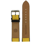 Leather European Sport Replacement Strap in Yellow Black | TechSwiss LEA1351 | Main View
