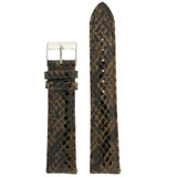 Quick Change Replacement Watch Band in Leather | Brown Snakeskin | TechSwiss LEA1551 | Third View