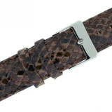 Quick Change Replacement Watch Band in Leather | Brown Snakeskin | TechSwiss LEA1551 | Second View
